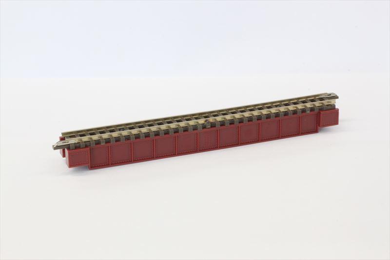 R070 デッキガーダー鉄橋 あずき色 (レール付)
