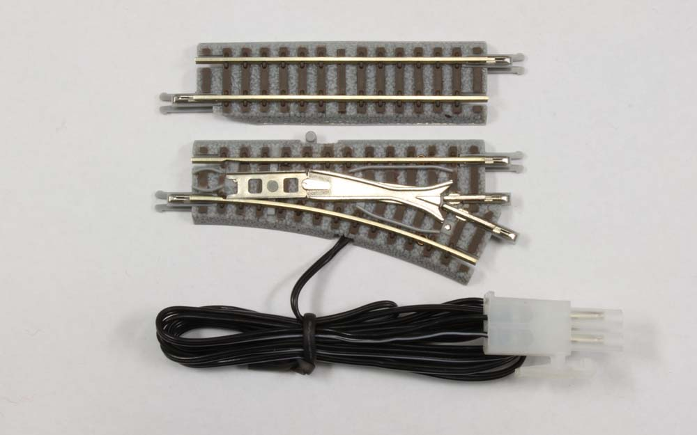 R023 電動/手動ポイントレール  55mm R127-26° 右分岐 (55mmカットレール 1本付き)