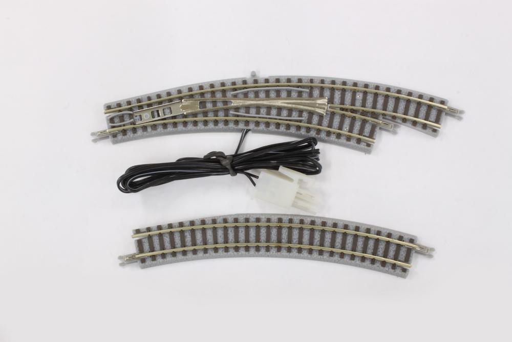 R027 電動/手動カーブポイントレール  R195-220 30° 右分岐