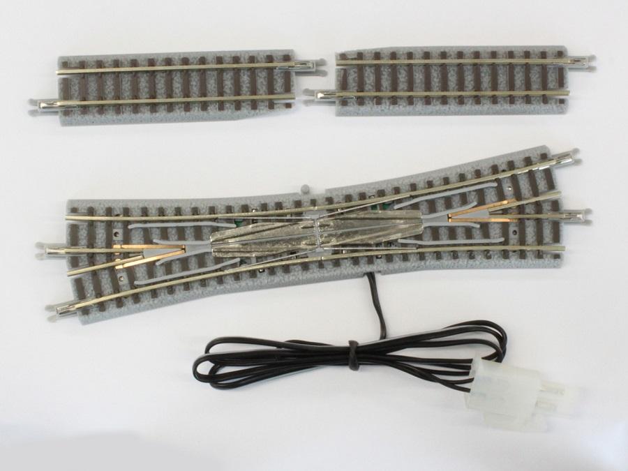 R034 電動/手動 ダブルスリップポイントレール 左