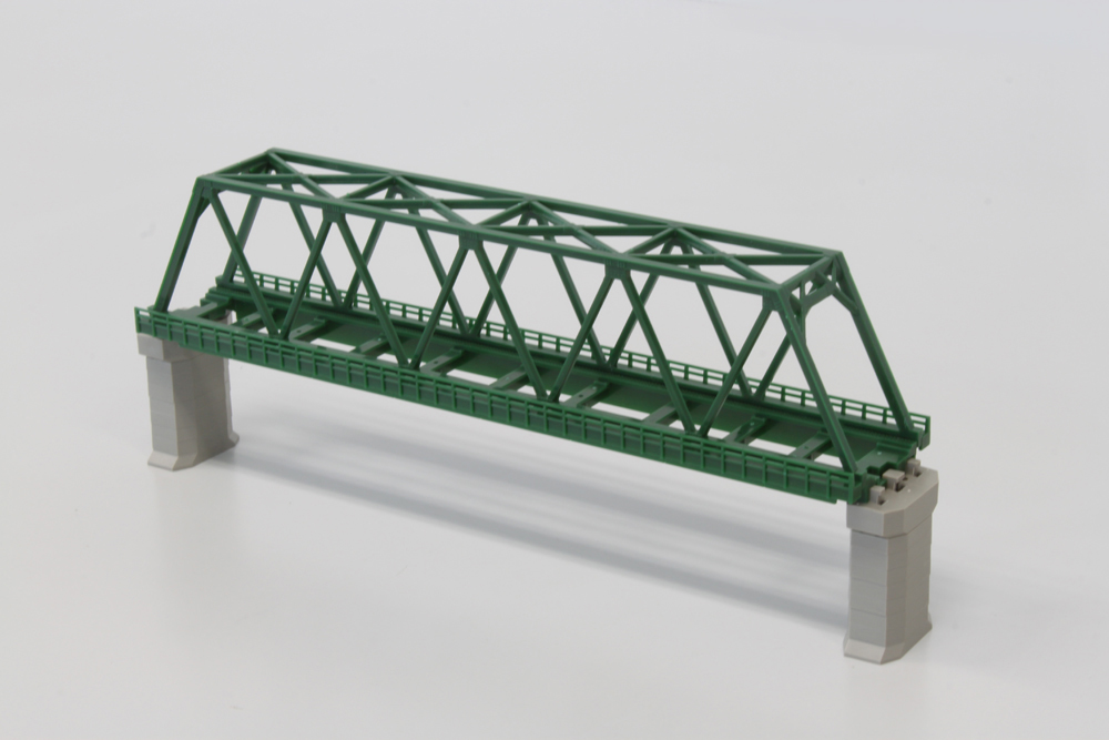R041 単線トラス鉄橋 220mm 緑 (1本)