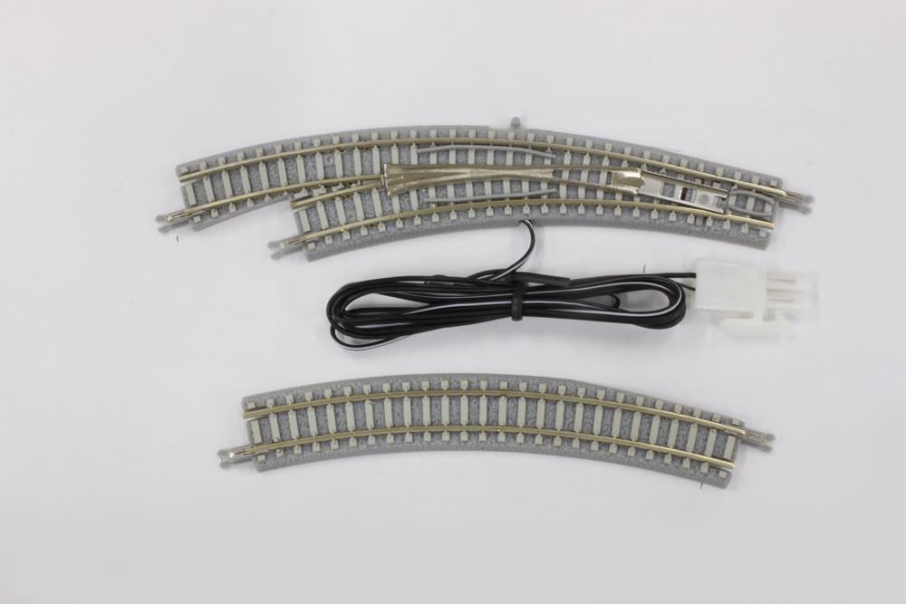 R057 PCトラック 電動/手動カーブポイントレール  R195-220 30° 左分岐