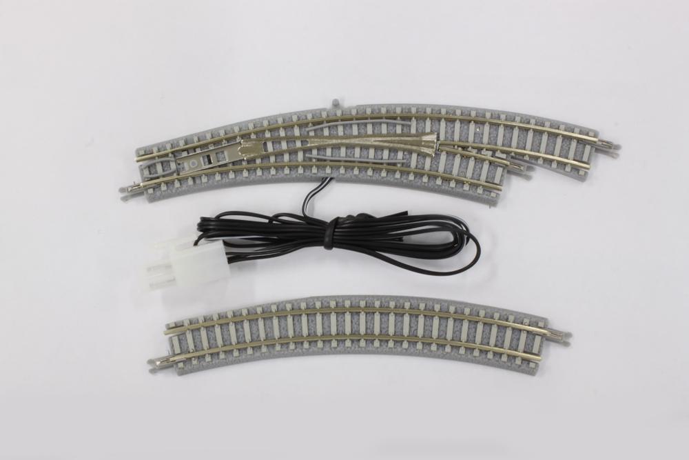 R058 PCトラック 電動/手動カーブポイントレール  R195-220 30° 右分岐