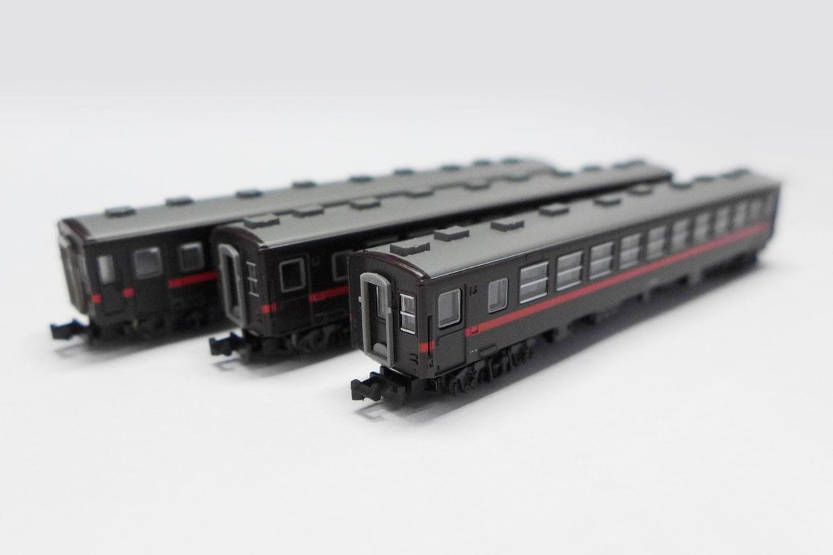 T014-4 もおか鐵道50系客車 赤帯3両セット