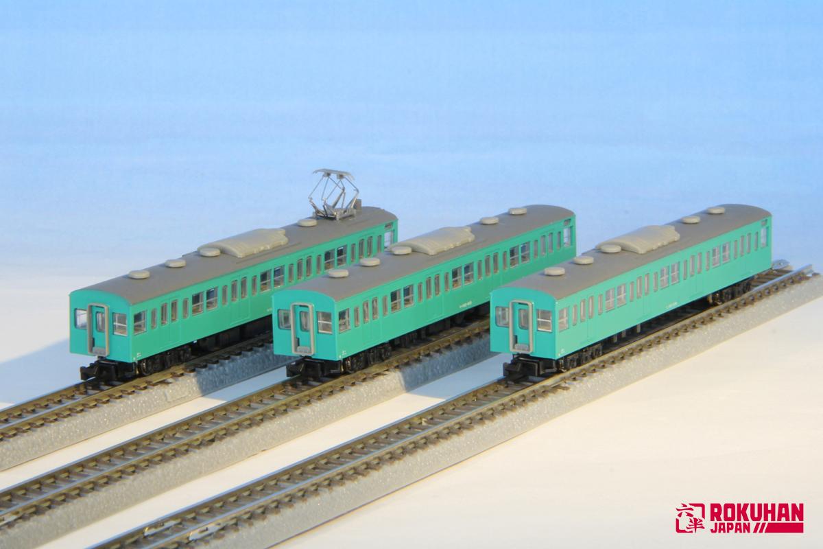 T022-10 国鉄103系エメラルドグリーン常磐線タイプ3両増結セット