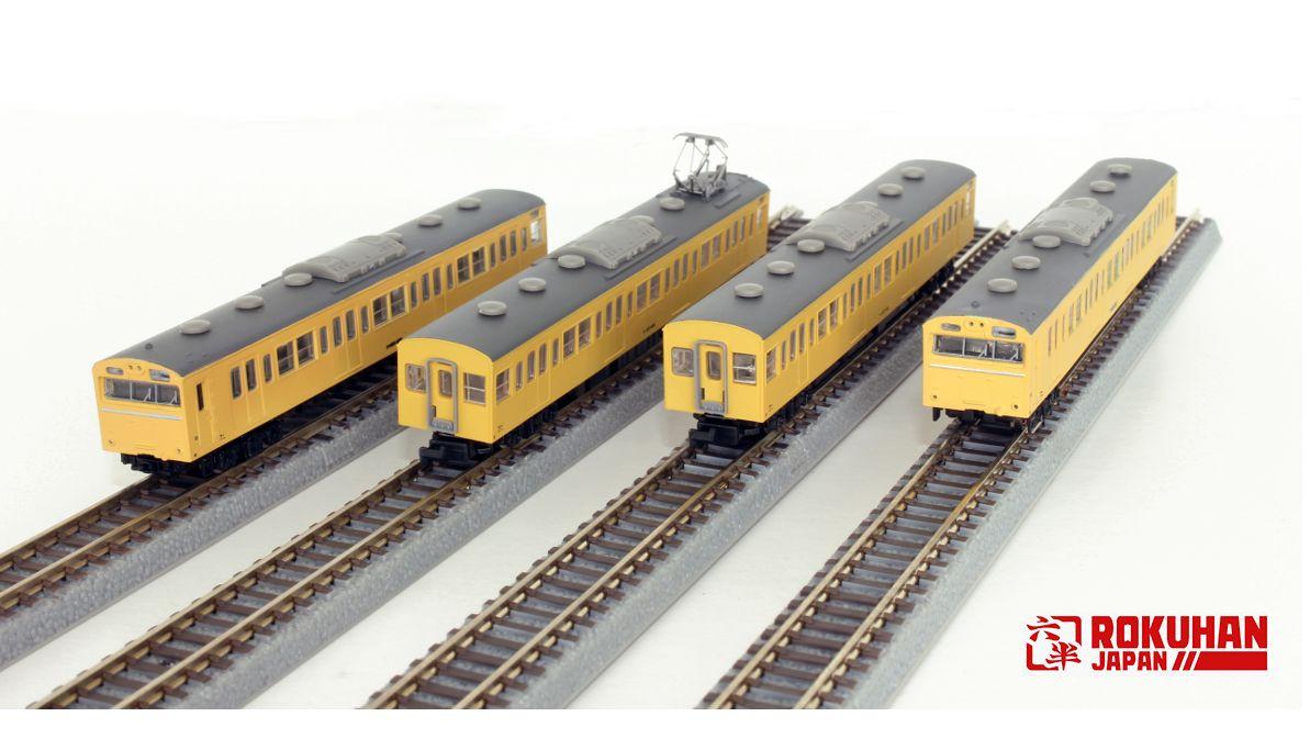 T022-13 国鉄103系 カナリア高運転台タイプ 4両基本セット