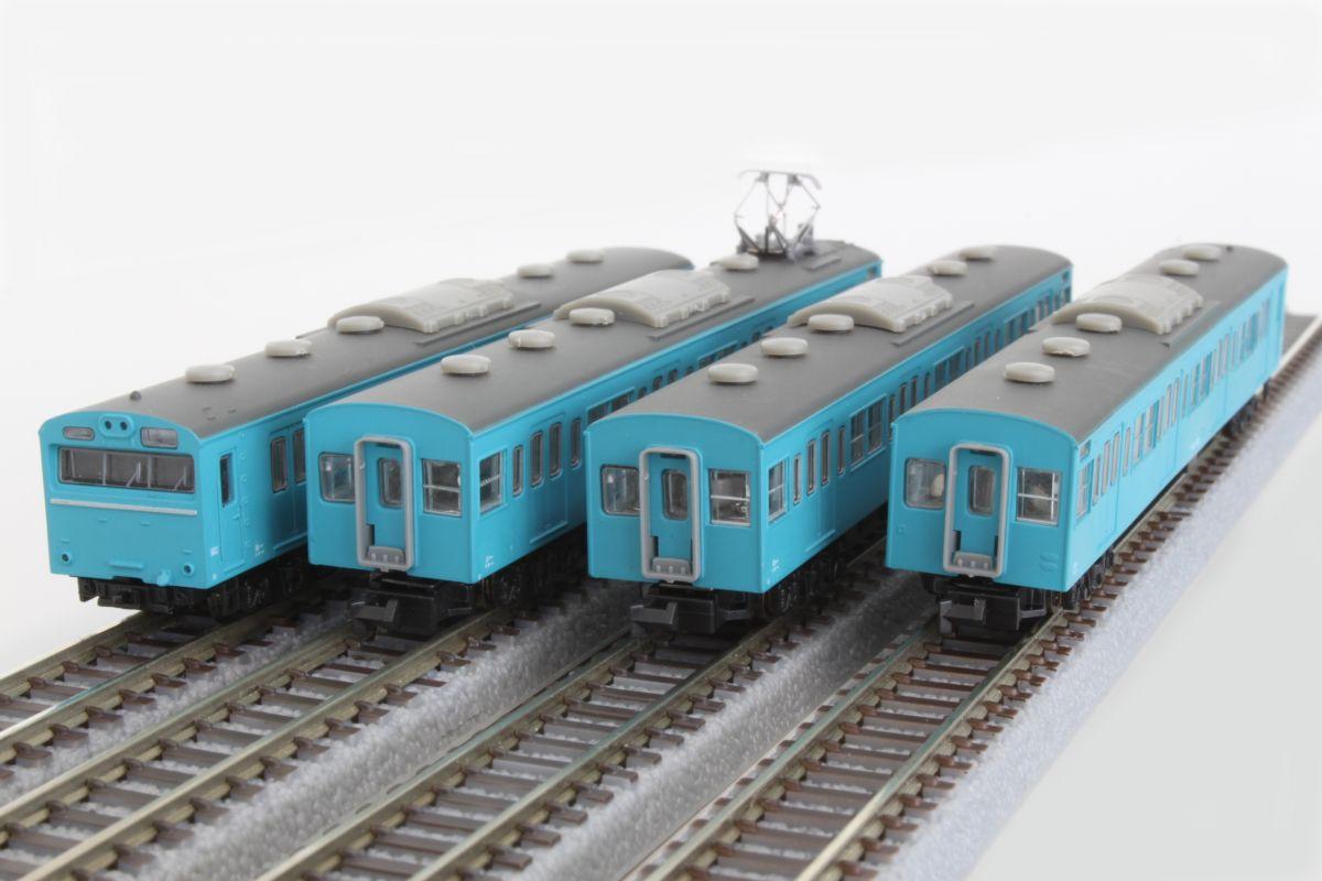 T022-1 国鉄103系 スカイブルー京浜東北線タイプ 4両基本セット