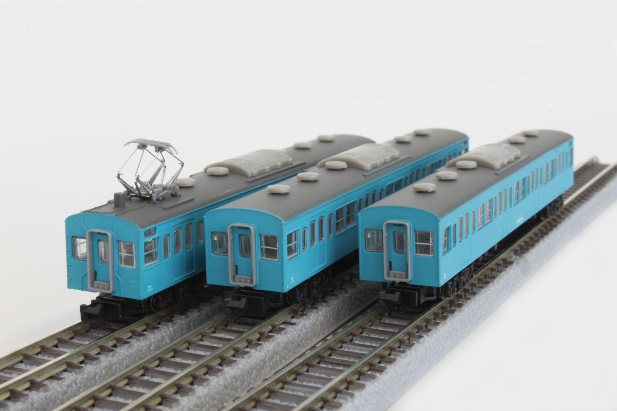 T022-2 国鉄103系 スカイブルー京浜東北線タイプ 3両増結セット