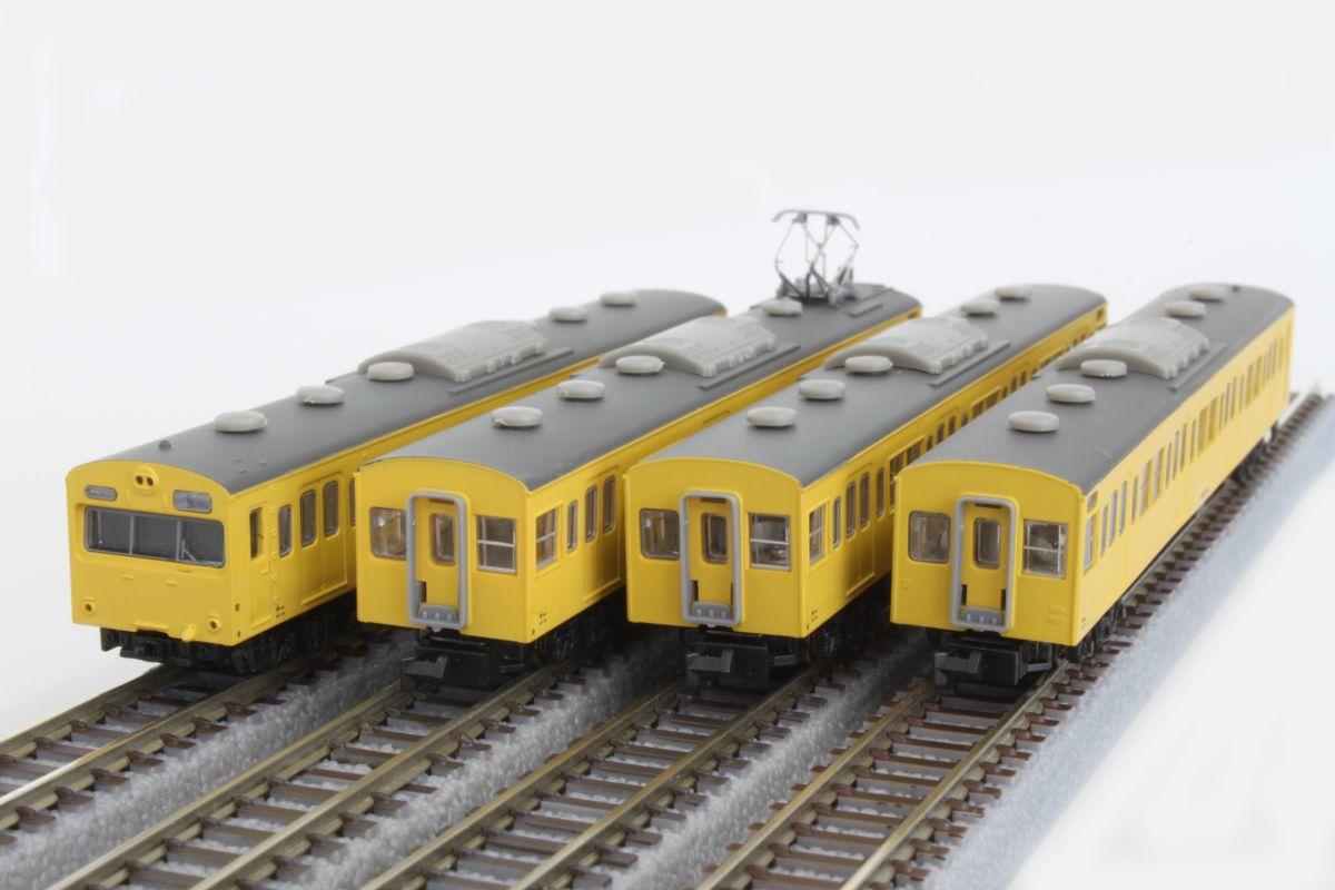 T022-3 国鉄103系 カナリア総武線タイプ 4両基本セット