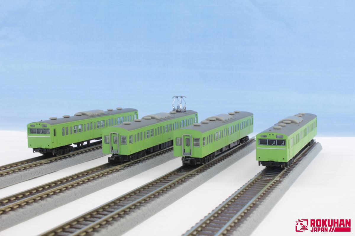 T022-5 国鉄103系 ウグイス 山手線タイプ 4両基本セット