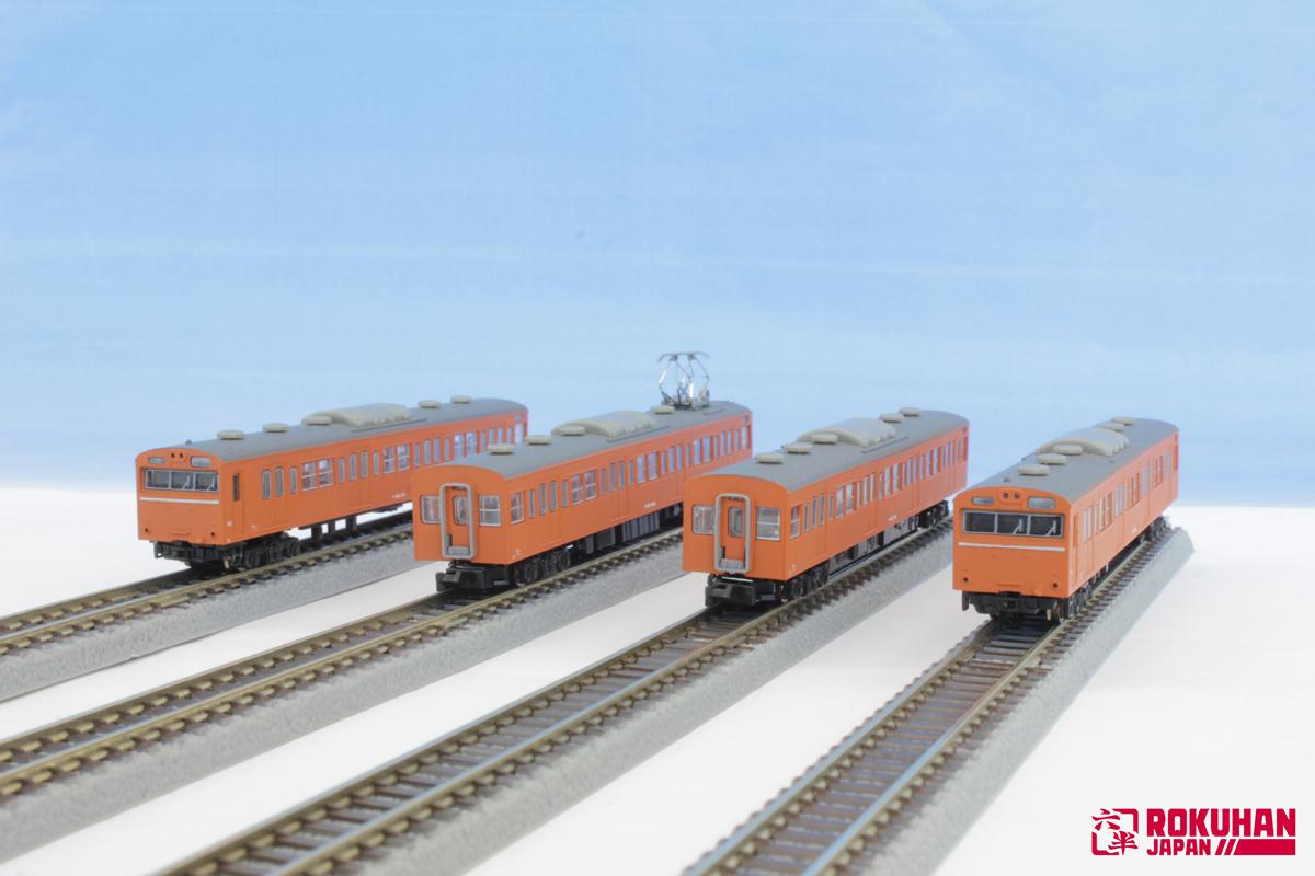 T022-7 国鉄103系 オレンジ 中央線タイプ 4両基本セット