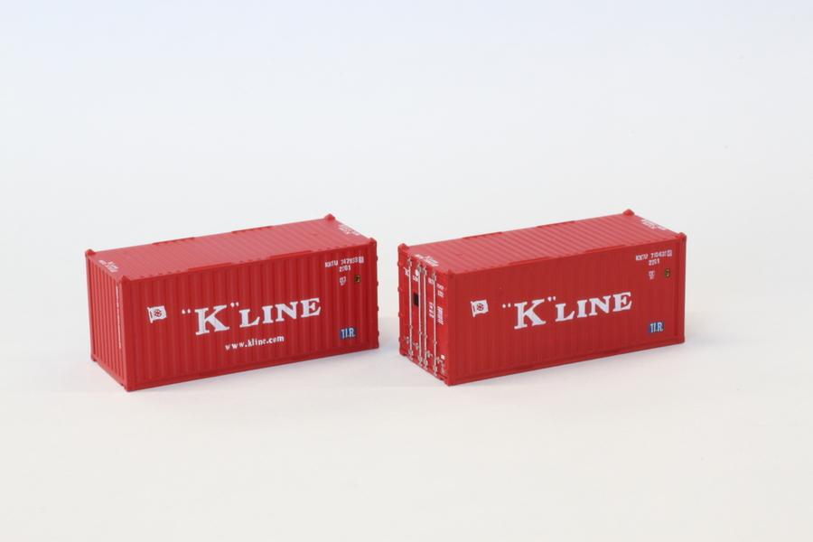A108-2 20ft海上コンテナ K‐Line 2個入り