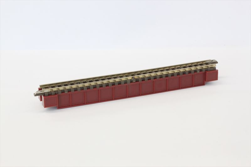 R070 デッキガーダー鉄橋 あずき色 110mm(レール付)