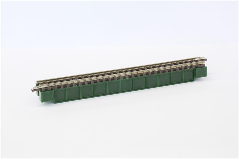 R071 デッキガーダー鉄橋 緑 110mm(レール付)