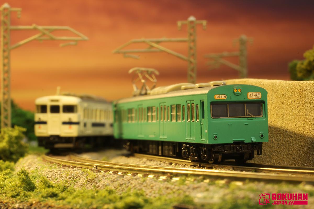 T022-9 国鉄103系エメラルドグリーン常磐線タイプ 4両基本セット