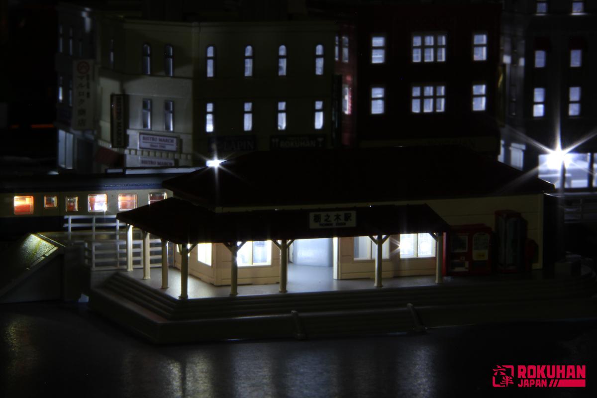 S047-2 駅舎セット(赤)