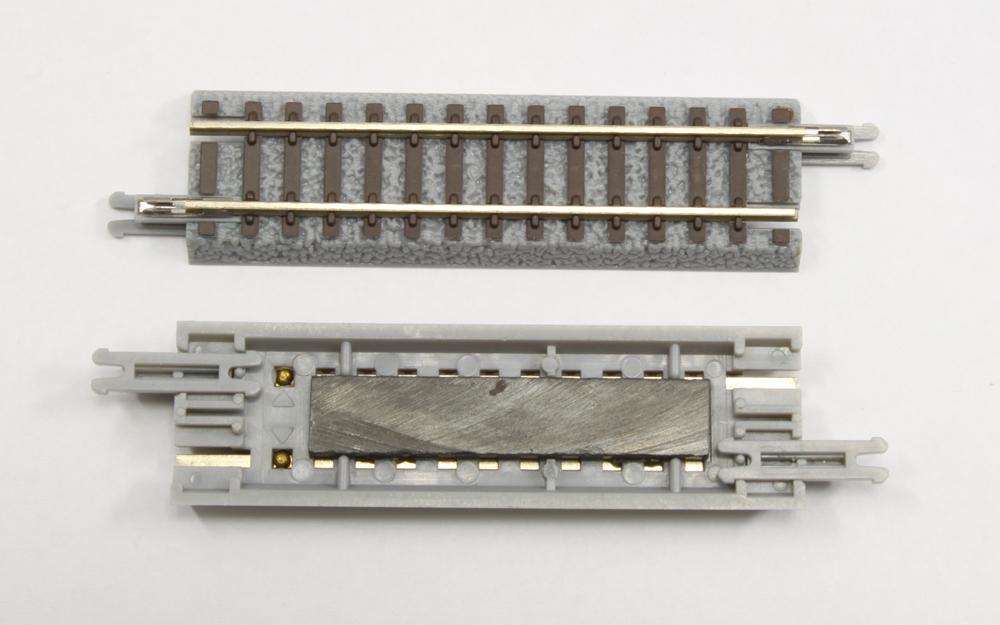 R037 クラシックトラック アンカプラーレール 55mm (ナックルカプラー用)(1本)