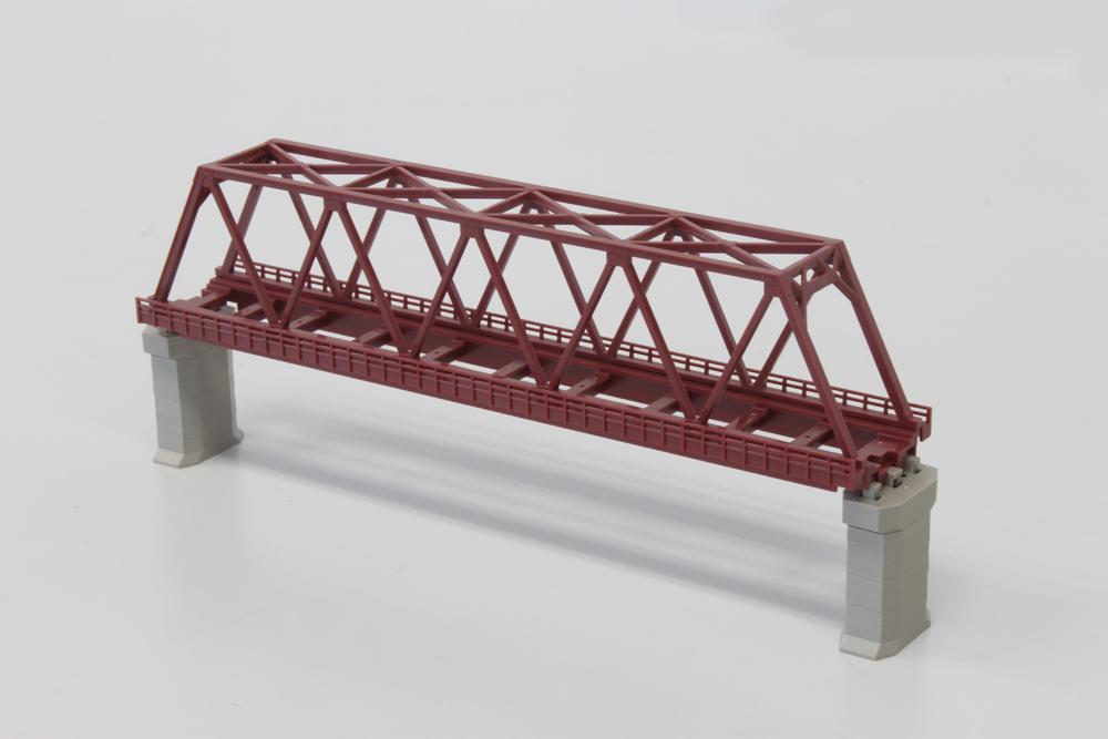 R042 単線トラス鉄橋 220mm 赤 (1本)