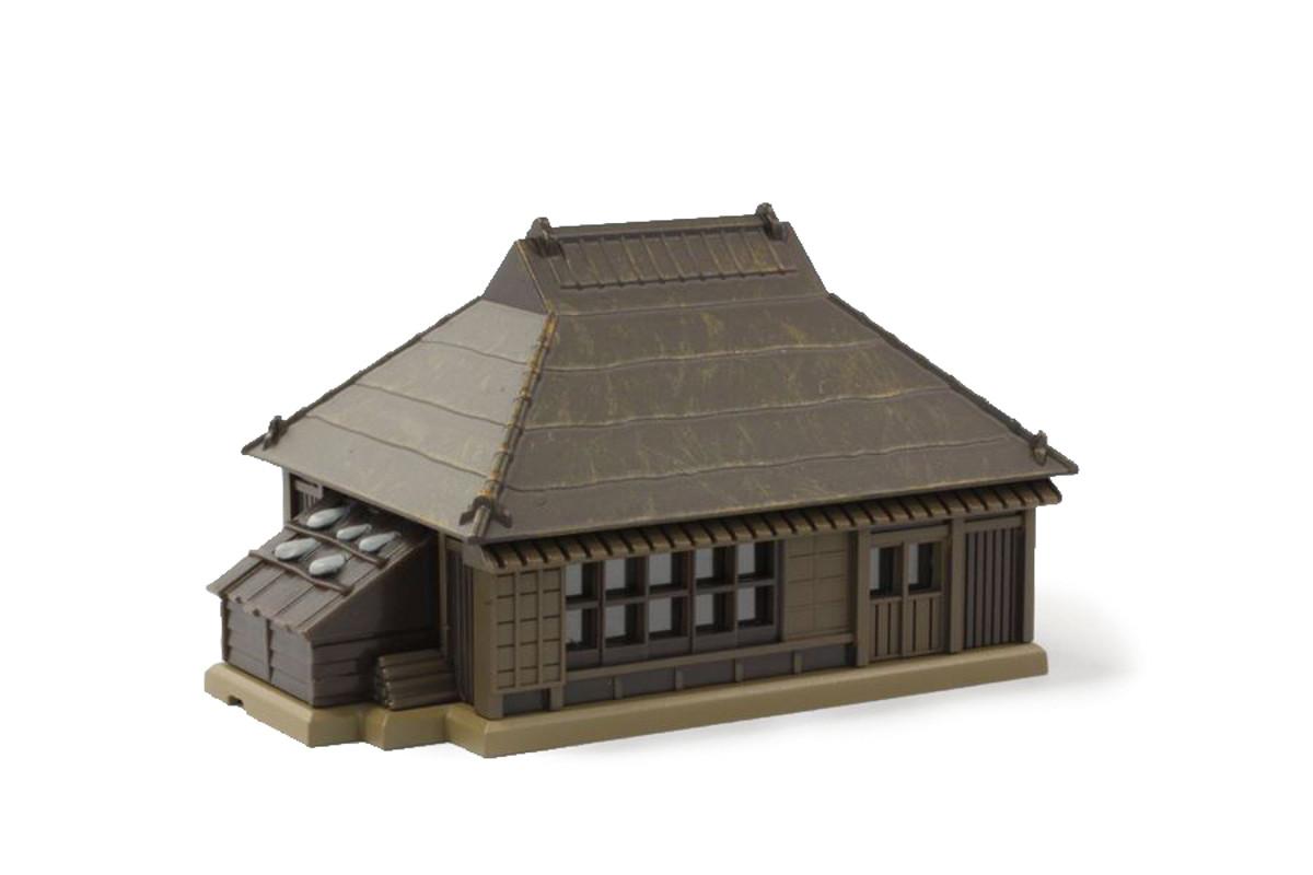 S025-3 トタン屋根農家 茶