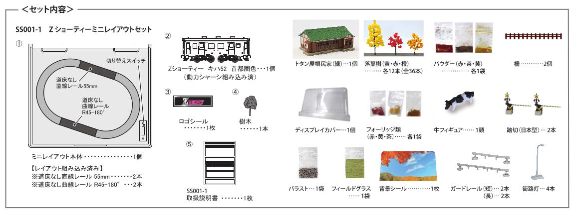 【数量限定】Zショーティー ミニレイアウトセット オリジナルキット(秋)