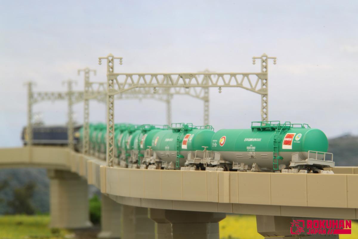 T004-6  タキ1000 日本石油輸送色(ENEOS・エコレールマーク) 10両セット