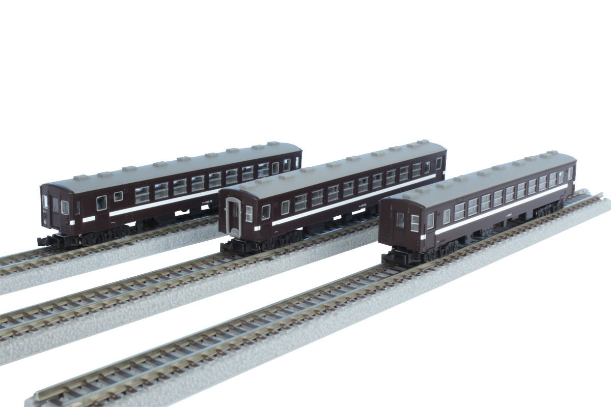 T014-6 真岡鐵道 50系客車 旧塗装 3両セット