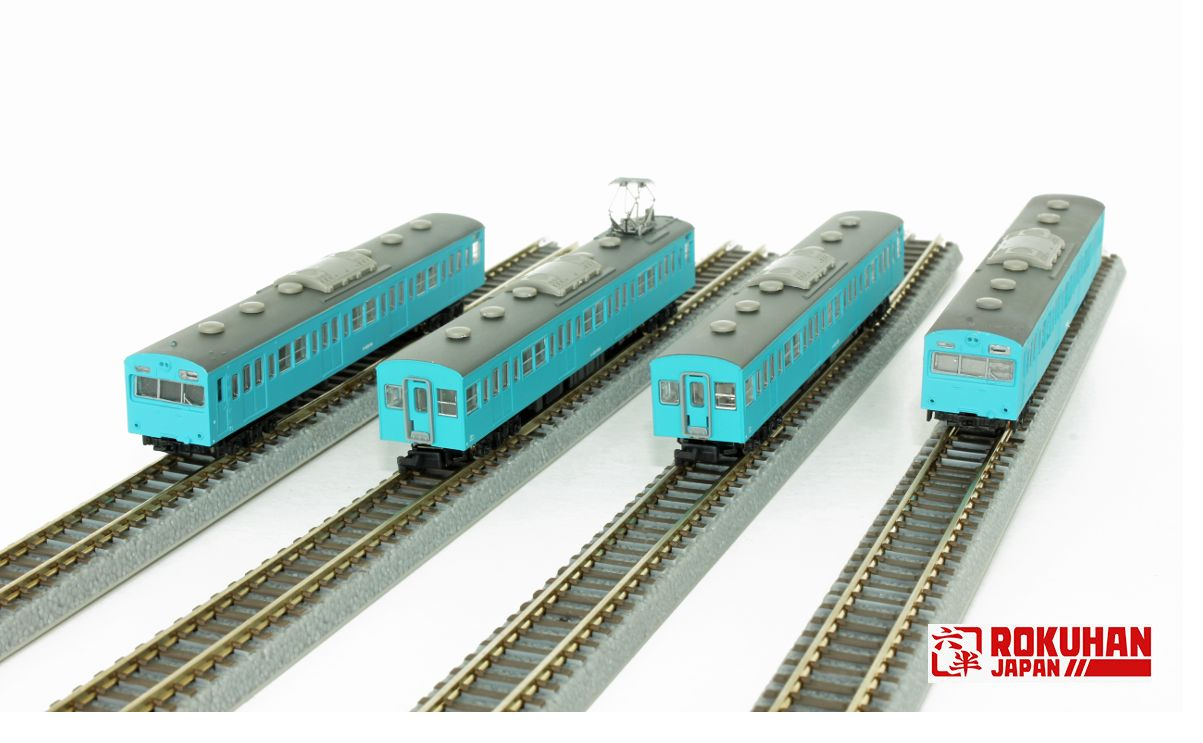 T022-12 国鉄103系 スカイブルー低運転台タイプ 4両基本セット