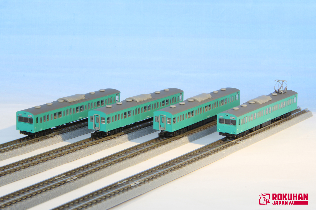 T022-9 JNR 103 Emerald Green Jo-ban line 4cars Basic set