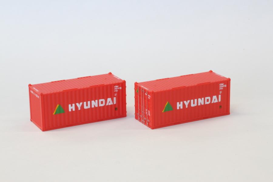 A108-3 20ft 海上コンテナ HYUNDAI 2個入り
