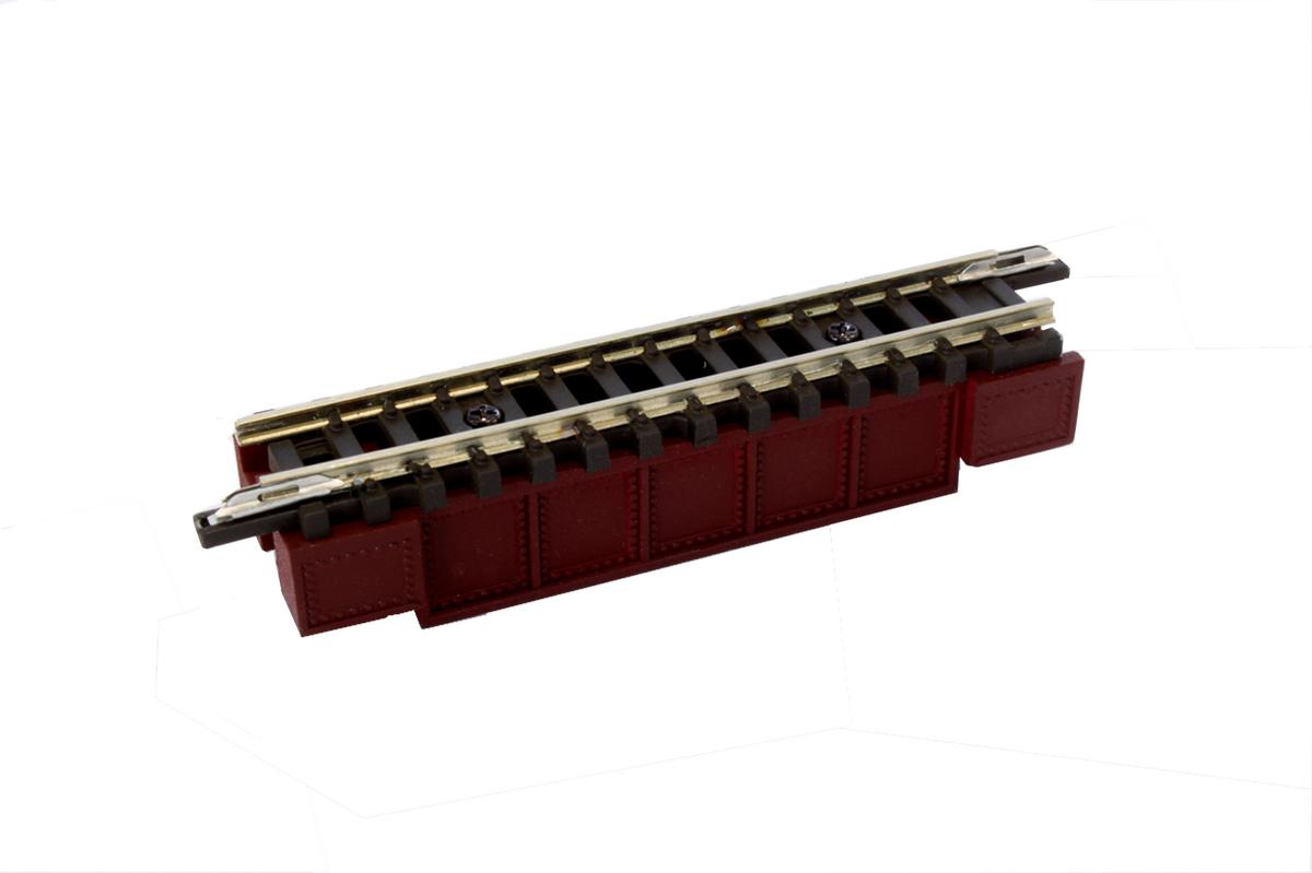 R085 デッキガーダー鉄橋 (短)55mm あずき色