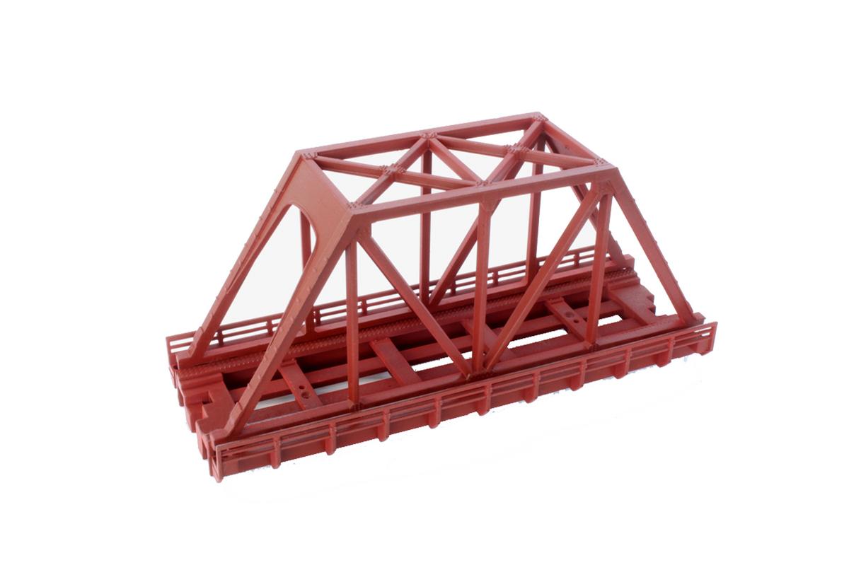 R088 単線トラス鉄橋 (短)110mm 赤