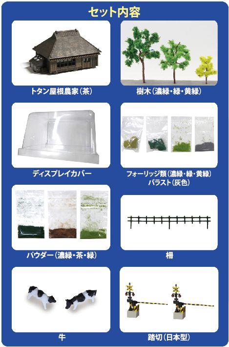 SS001-2  Zショーティー ミニレイアウトセット専用 情景セット(夏)